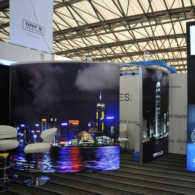 LED China Free Standing Billboard curvo in alluminio retroilluminato Tessuto ID