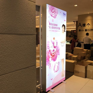 Chain Store Decoration all'ingrosso Photo Booth Double Side Negozio di abbigliamento Frame-Less Box LED